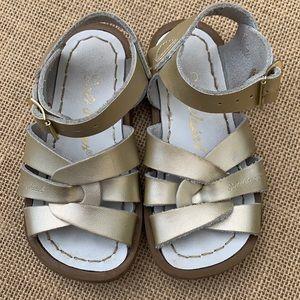 EUC Gold Salt Water leather sandals GORGEOUS
